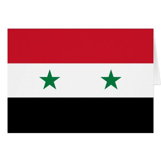 Syria Flag Greeting Cards