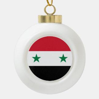 Syria Flag Ceramic Ball Christmas Ornament