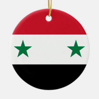 Syria Flag Ceramic Ornament