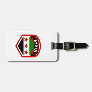 Syria Flag Crest Shield Luggage Tag