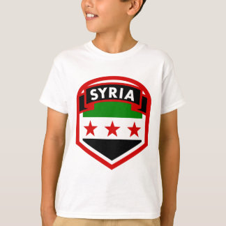 Syria Flag Crest Shield T-Shirt