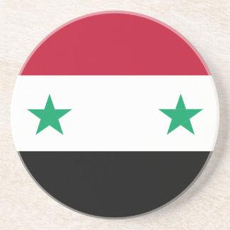 Syria flag drink coaster