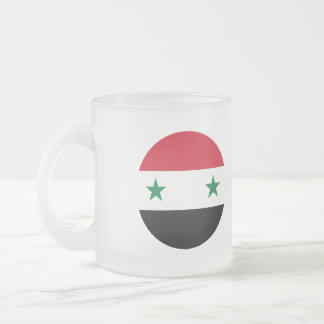 Syria Flag Frosted Glass Coffee Mug