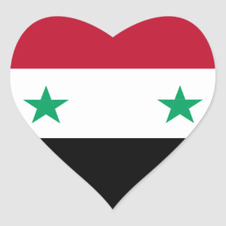 Syria flag heart sticker