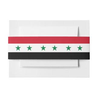 Syria Flag Invitation Belly Band