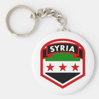 Syria Flag Key Ring