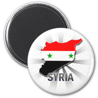 Syria Flag Map 2.0 Magnet
