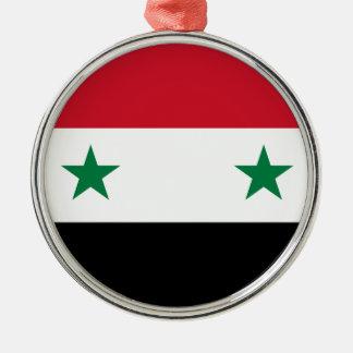 Syria Flag Metal Ornament