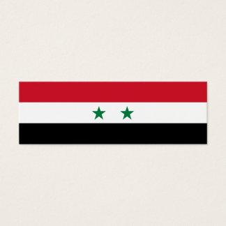 Syria Flag Mini Business Card