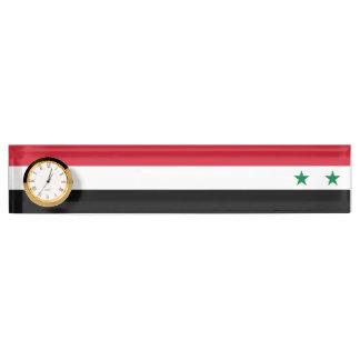 Syria Flag Name Plate