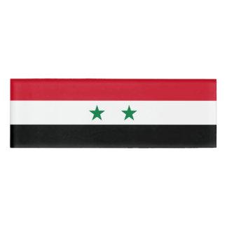 Syria Flag Name Tag