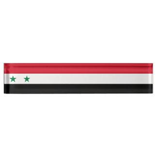 Syria Flag Nameplate