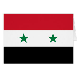 Syria Flag Note Card