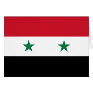 Syria Flag Note Card
