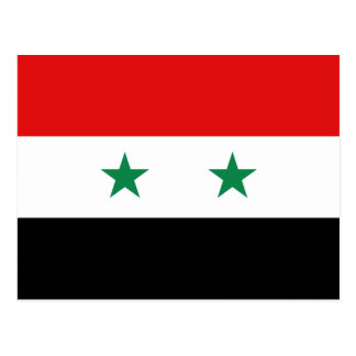 Syria Flag Postcard
