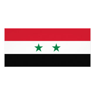 Syria Flag Rack Card