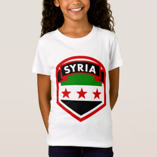 Syria Flag Shield T-Shirt