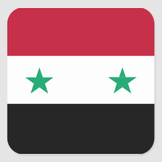 Syria flag square sticker