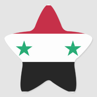 Syria flag star sticker