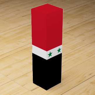 Syria Flag Wine Gift Box