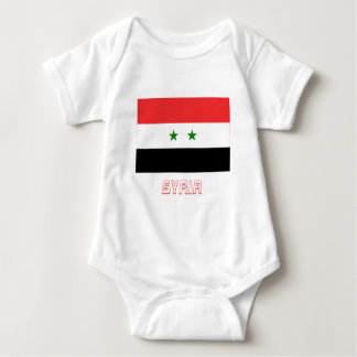 Syria Flag with Name Baby Bodysuit