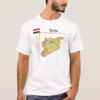 Syria Map + Flag + Title T-Shirt