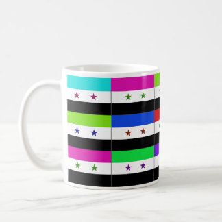 Syria Multihue Flags Mug