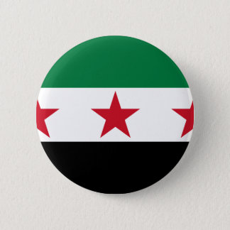 syria opposition 6 cm round badge