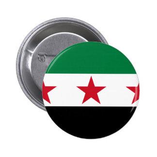 syria opposition 6 cm round badge