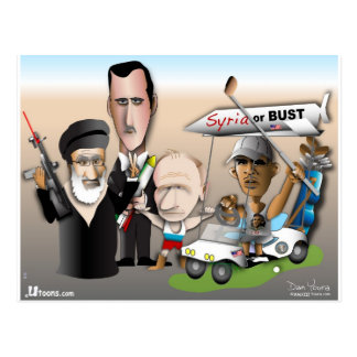 Syria or Bust Postcard
