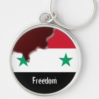 Syria Revolution Arab Spring We are all.. Silver-Colored Round Key Ring