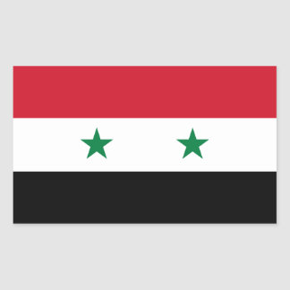Syria/Syrian Flag Rectangular Sticker