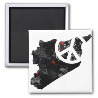 Syria Trendy Peace Sign with Syrian map Magnet