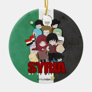 SYRIA - We're With You Ceramic Ornament