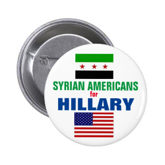 Syrian Americans for Hillary 2016 6 Cm Round Badge