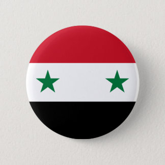 Syrian Arab Republic Flag - Flag of Syria 6 Cm Round Badge