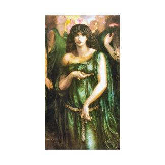 Syrian Astarte 1877 Pre Raphaelite Art Canvas Print