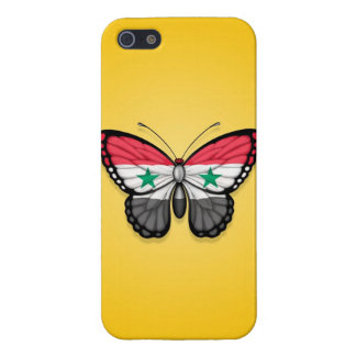 Syrian Butterfly Flag on Yellow iPhone 5 Case