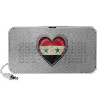 Syrian Heart Flag Stainless Steel Effect Portable Speakers