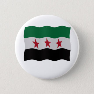 Syrian Republic Flag 1932-59 1961-63 6 Cm Round Badge
