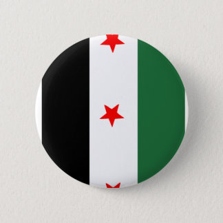 Syrian Revolutionary Flag 6 Cm Round Badge