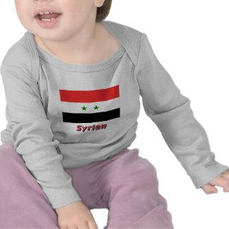 Syrien Flagge mit Namen T Shirt