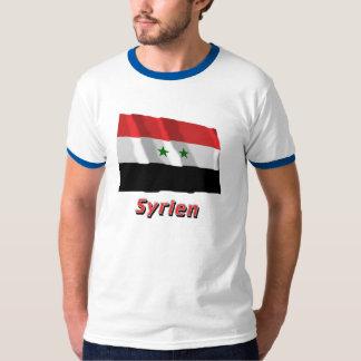 Syrien Fliegende Flagge mit Namen Tshirt
