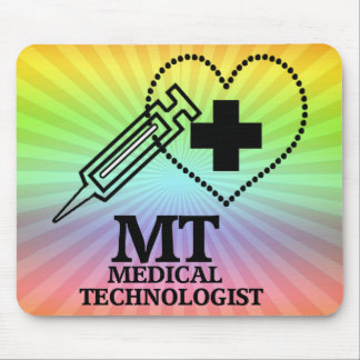 SYRINGE HEART LOGO FOR MT MEDICAL TECHNOLOGIST MOUSE PAD