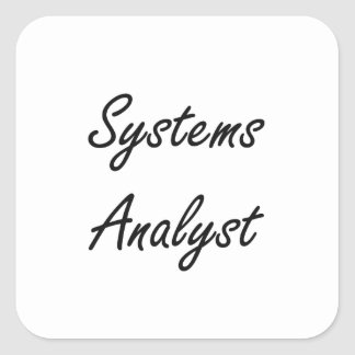 Systems Analyst Artistic Job Design Square Sticker