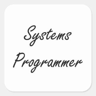Systems Programmer Artistic Job Design Square Sticker