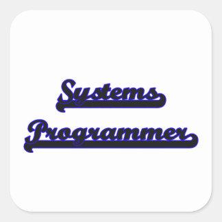 Systems Programmer Classic Job Design Square Sticker