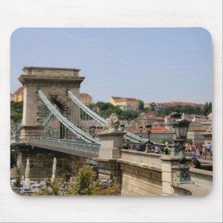 Széchenyi Chain Bridge, Budapest, Hungary Mouse Pad