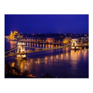 Széchenyi Chain Bridge In Budapest Hungary Postcard