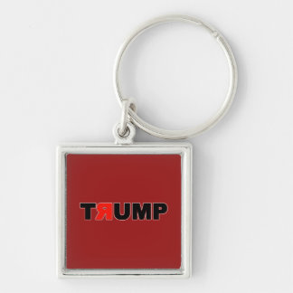 tяump Silver-Colored square key ring